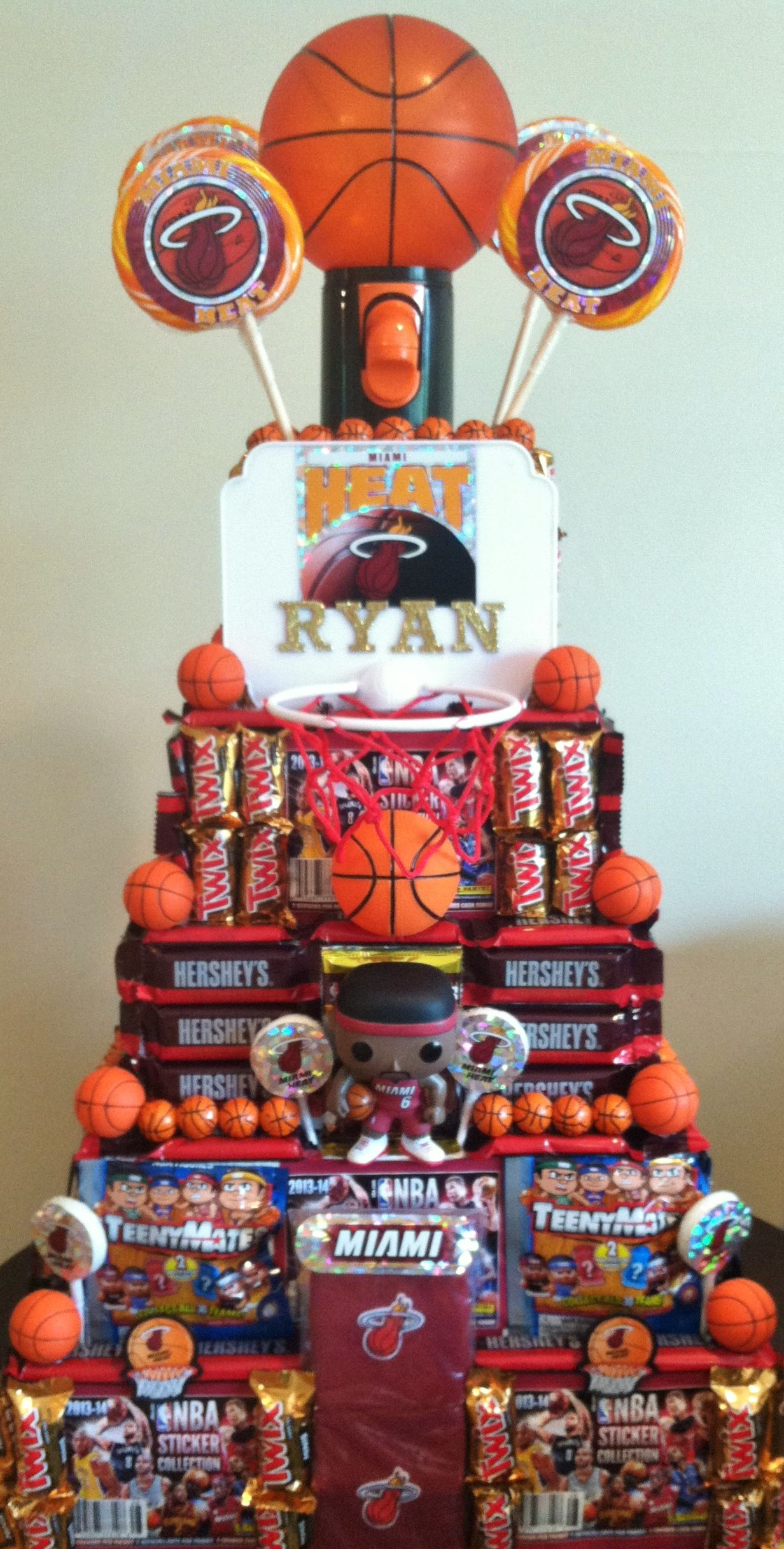 Miami Heat Basketball Party Candy Centerpieces By