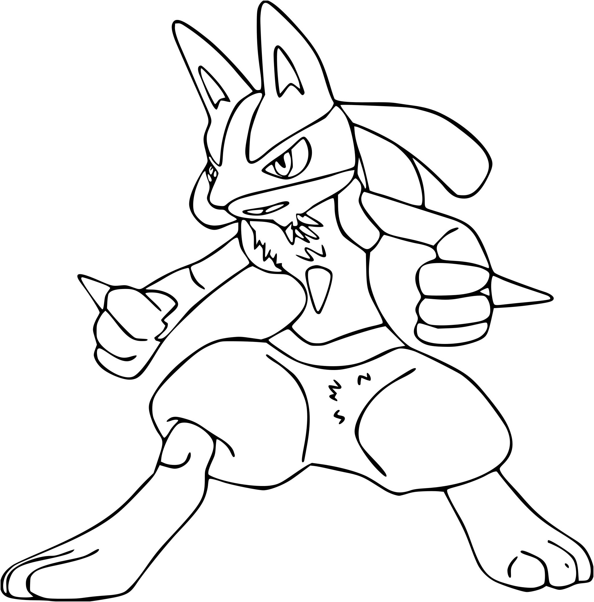 14 Ordinaire Coloriage Pokemon Lucario Stock Coloriage Pokemon