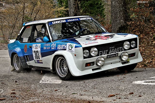 Fiat 131 Mirafiori Abarth 3 Rally Historic Valsugana 19 03 2011