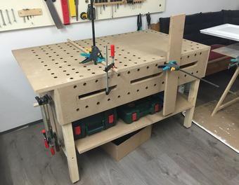 werktisch werkstatt tisch werktisch und werkbank bauen. Black Bedroom Furniture Sets. Home Design Ideas