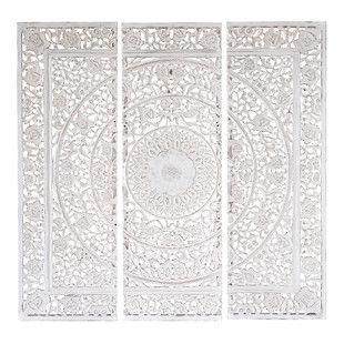 Triptico Tallado Blanco 150x150 Maison Du Monde Idee Deco Orientale Et Decoration