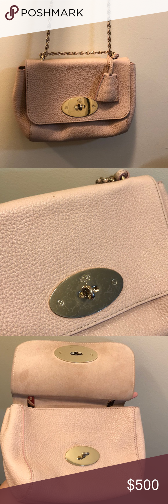 Mulberry Pink Lily Very clean. Authentic. No box or dust bag. Can be worn in two ways: cross body and tote. Suede inside. Nicely worn as the pictures! Price is firm. Mulberry Bags Crossbody Bags #mulberrybag
