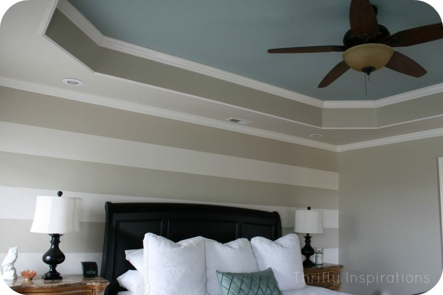 Coffered ceiling ideas painted tray ceiling in master for Master bedroom ceiling designs