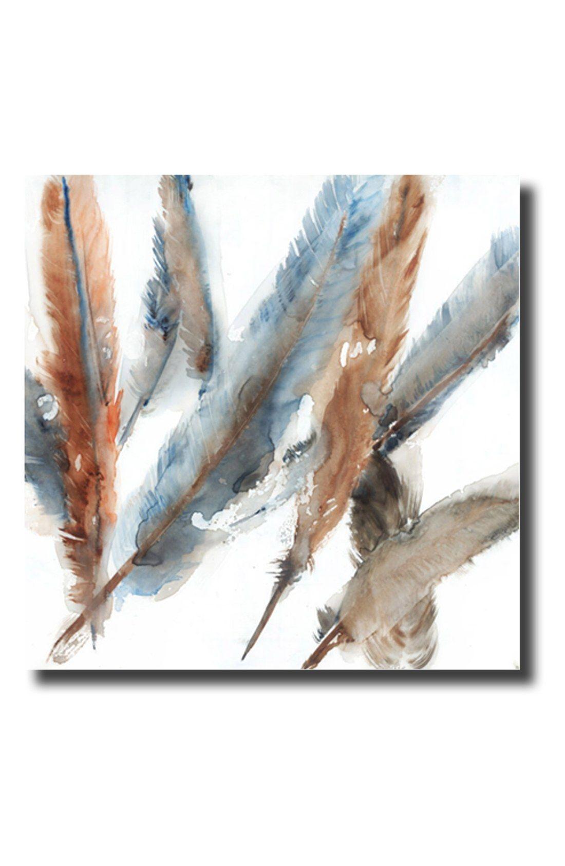 Crystal art gallery feathers high gloss canvas wall art