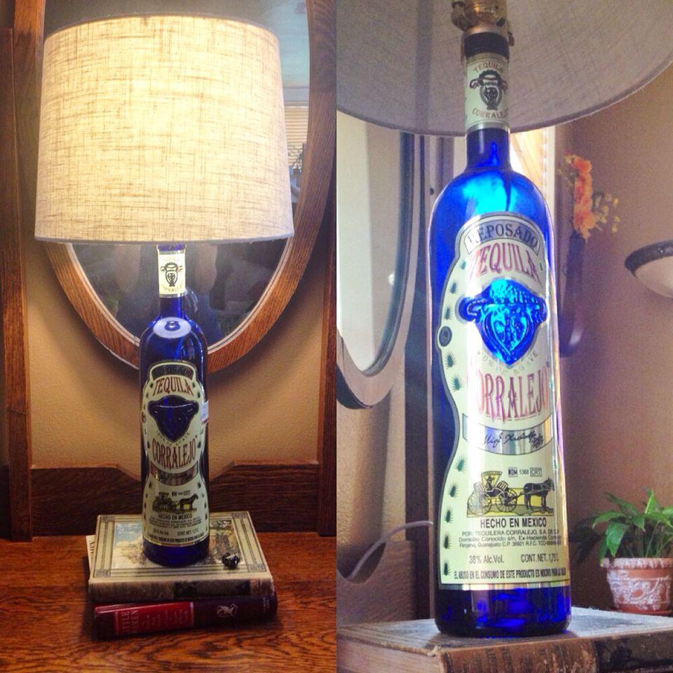 Hanging Bottle Lamp Kit: Liquor Bottle Lamp! All You Need Is... An Empty Bottle