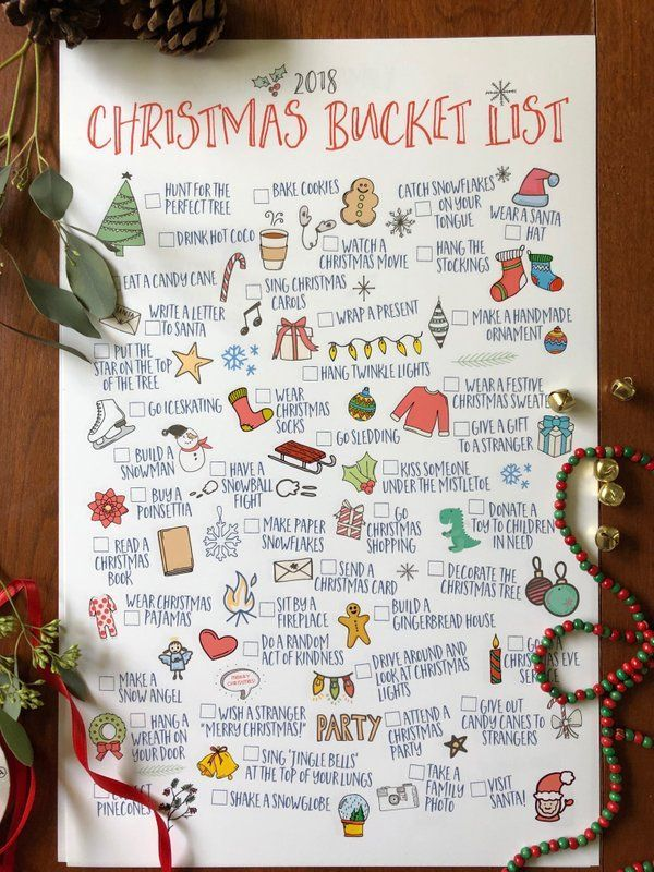 $15!! Christmas Bucket Lists digital downloads - so cute for activities all seas #bulletjournal