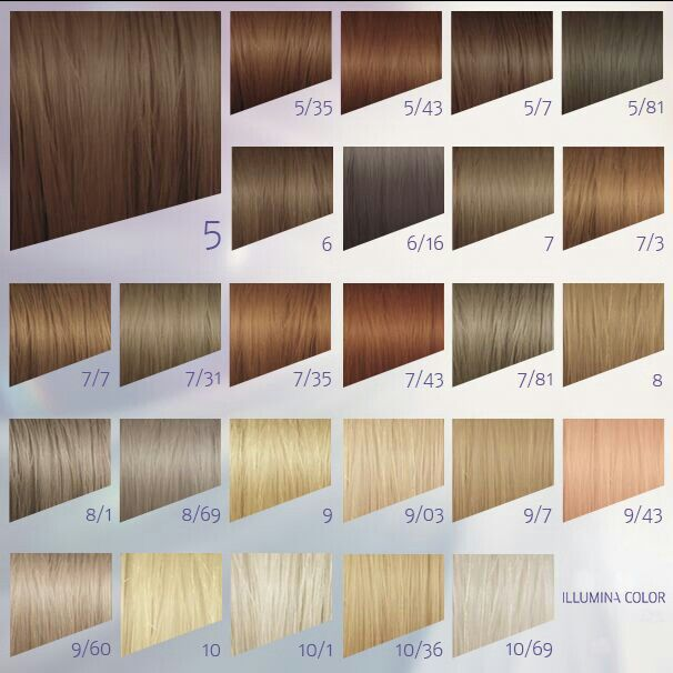 Wella illumina color haircut and hair dye colors blond clair also professionals shades palette rh pinterest