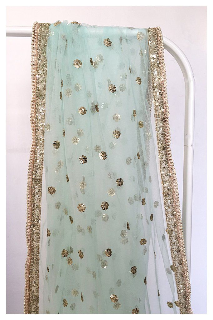 853be36716 The Powder Blue and Champagne Dupatta in 2019 | Spring Summer 2017 ...