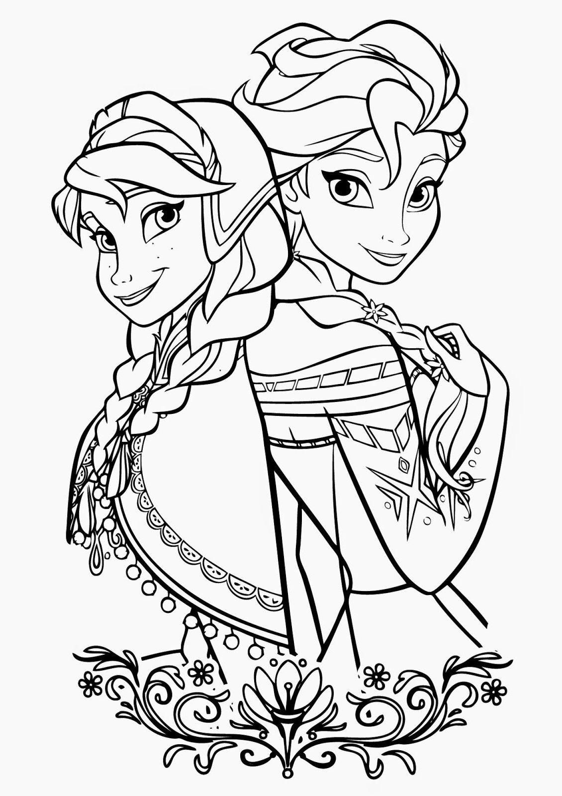 Coloring Pages Frozen Elsa coloring pages, Disney