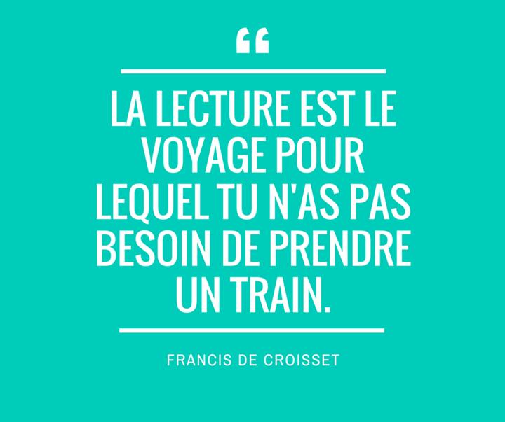 Lecture Voyage Train Livre Citation Lecture Citation