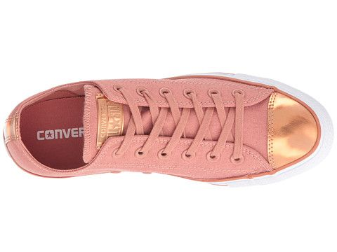 8468f81cd557 Converse Chuck Taylor® All Star® Brush-Off Leather Toecap Lo Pink  Blush Blush Gold White - zappos.com