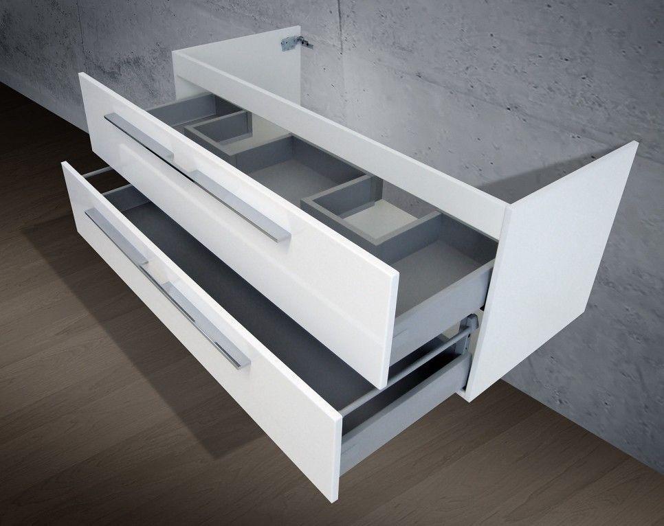 Waschbeckenunterschrank Für Doppelwaschbecken waschtisch unterschrank zu keramag myday doppelwaschtisch 130 cm