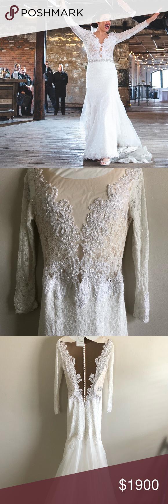 I just added this listing on poshmark longsleeve lace wedding