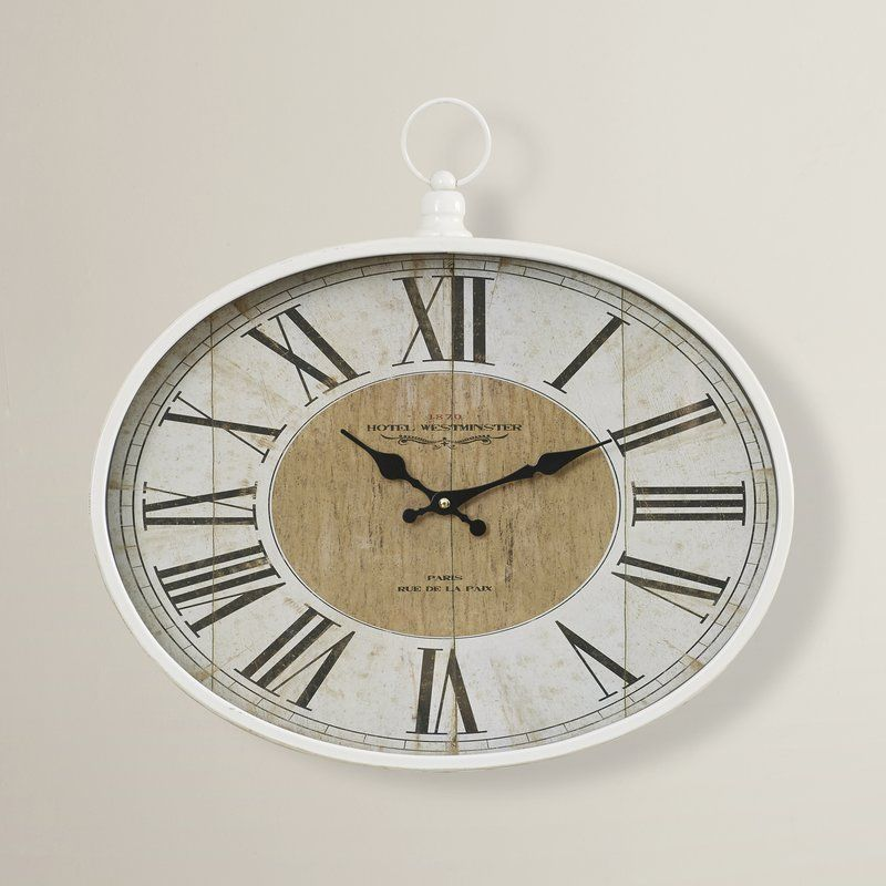 Rustic Wood Metal Wall Clock