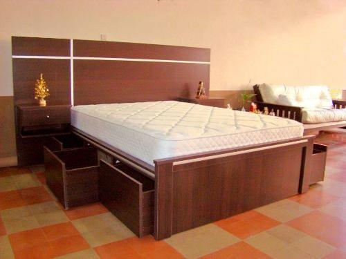 Cama matrimonial con cajones h o g a r pinterest for Matrimonial bedroom design