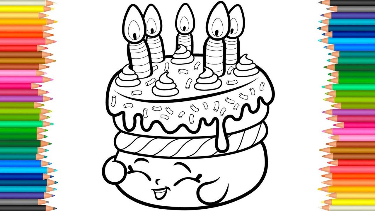 Shopkins Wishes Cake Coloring Pages l Coloring Book For ...