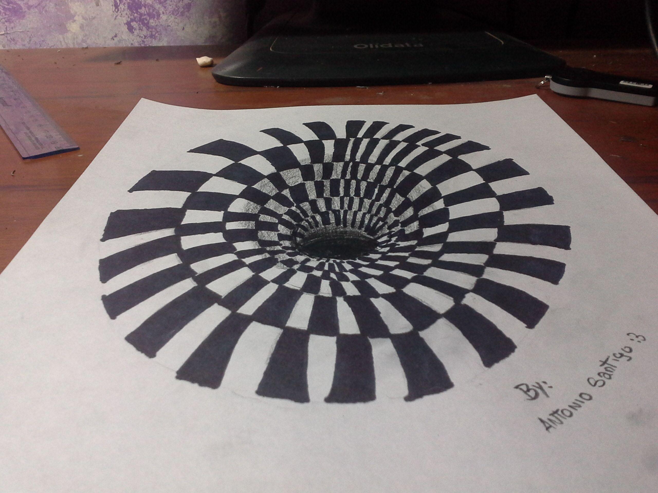 Dibujo agujero 3d dibujos pinterest 3d - Ilusiones opticas para imprimir ...