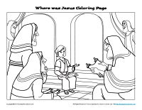 Where Was Jesus Bible Jesus Coloring Pages Bible Coloring