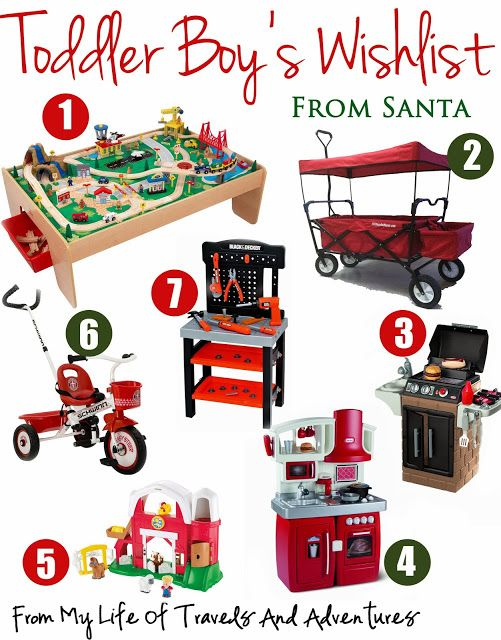 Toddler Boy S Wish List Toddler Boy Gifts Christmas