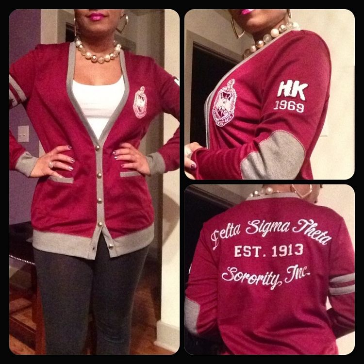 The Collegiate Collection Dst Varsity Cardigans Delta Sigma Theta