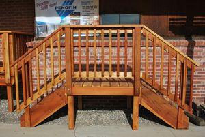 Best Redwood Deck Deck Stair Railing Deck Redwood Decking 640 x 480