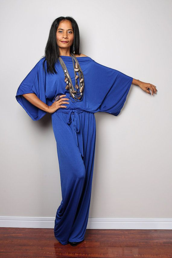 big collection great look exquisite design Blue Jumpsuit Royal Blue Jumper Maxi Dress : Chic & by ...