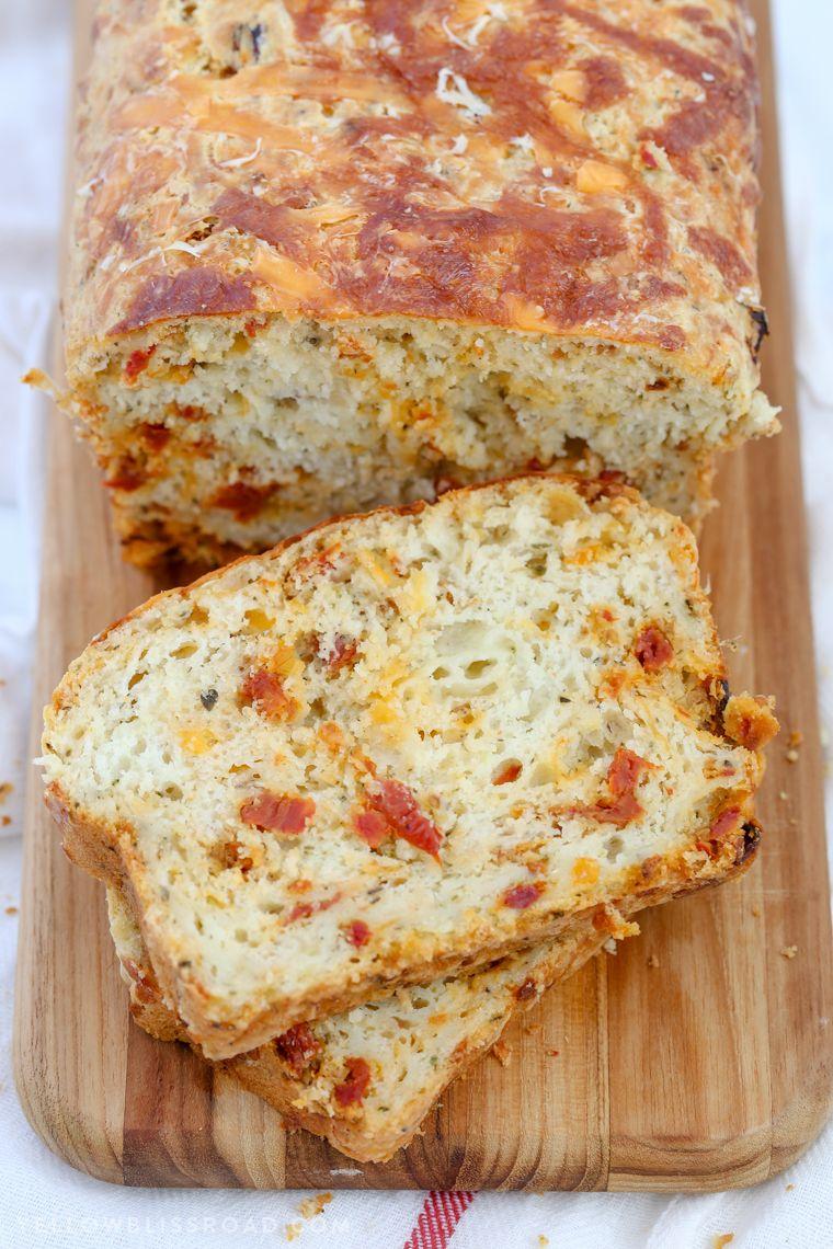 Cheesy Pizza Quick Bread Recipe Quick Bread Food Recipes