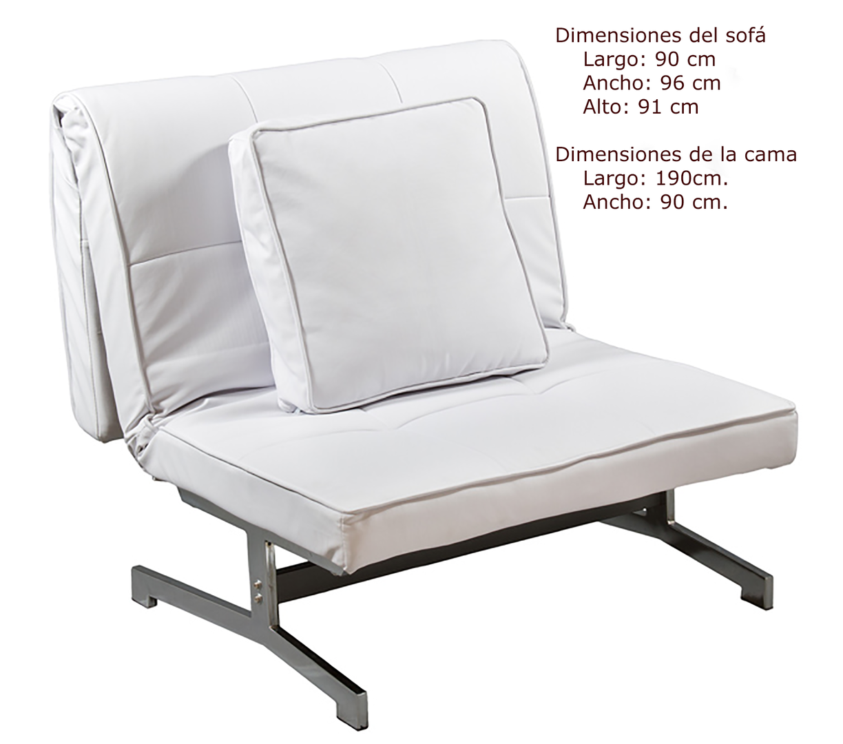 Regalonia es original sof cama de polipiel en color for Sofa cama colores
