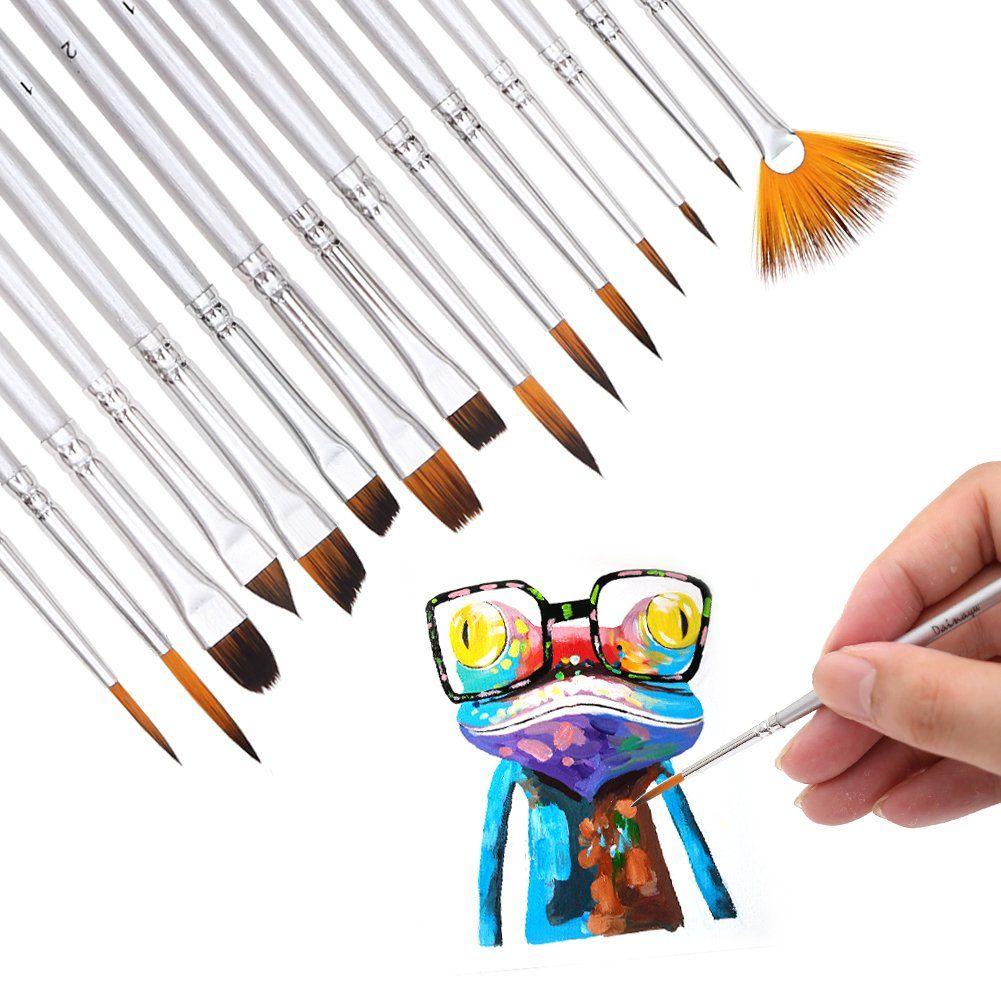 Dainayw art detail paint brushes set 15piece fine
