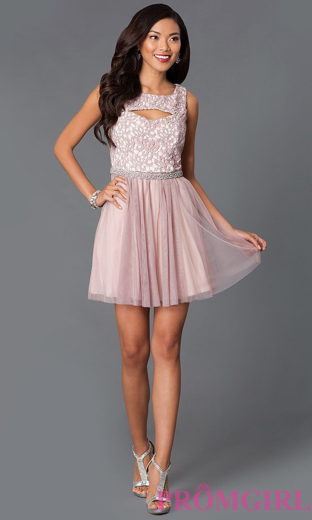 short lace a line dress