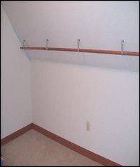 Angled Ceiling Closet Rod Brackets