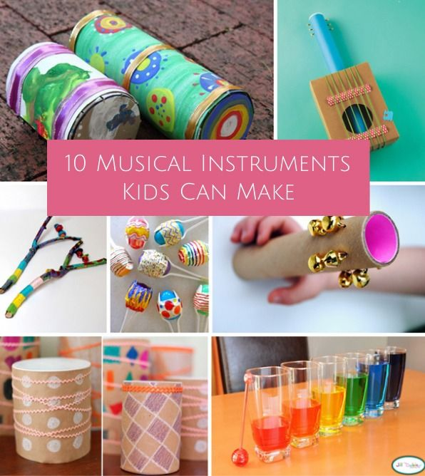 10 SIMPLE MUSIC INSTRUMENTS KIDS CAN MAKE #musicalinstruments