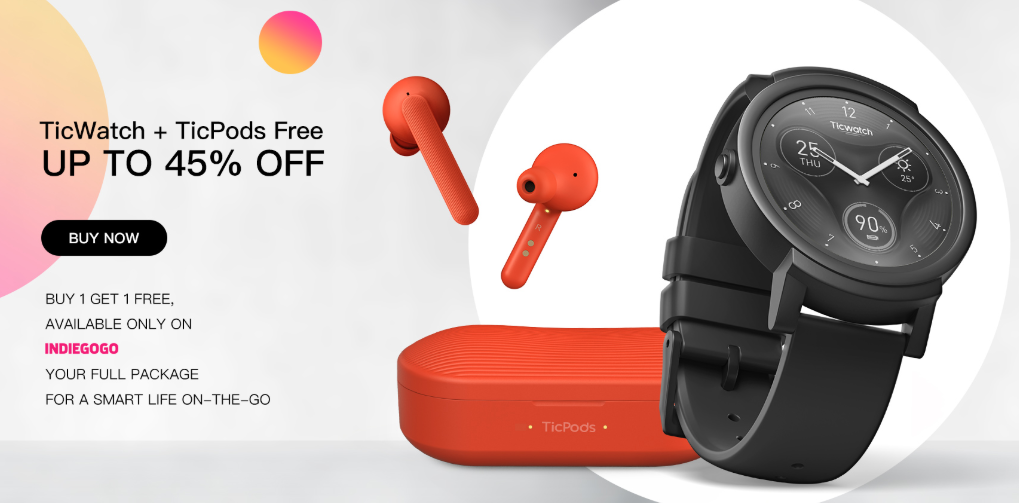 a5e944f61a Use  Ticwatch  DiscountCodes And Get Uo To 45%  Discount - TicWatch+TicPods  Free  watches  electronics  onlineshopping  couponcodes  promocodes  deals  ...