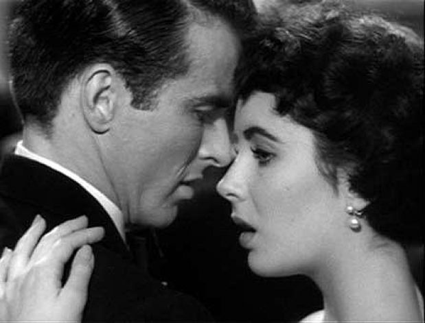 """Montgomery Clift & Elizabeth Taylor in """"A place in the Sun"""""""