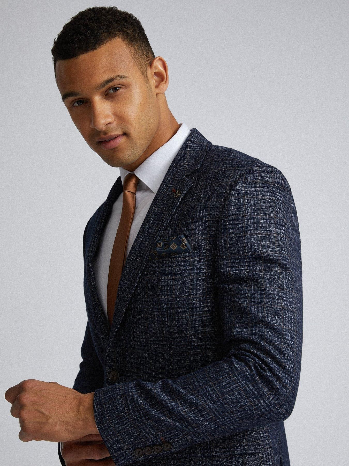 Burton menswear london burton grindle check slim suit