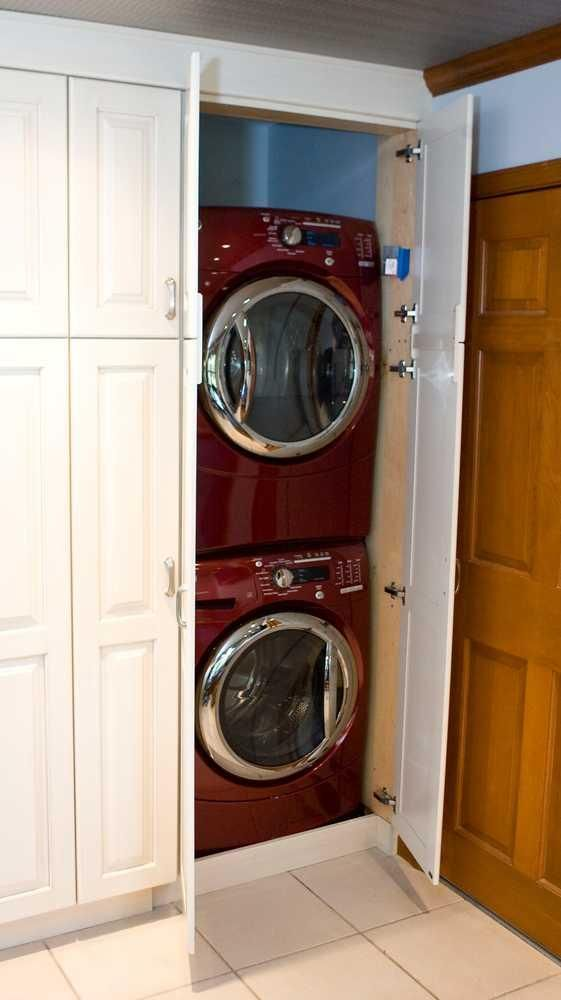 kitchen pantry surprise perfect idea for stackable washer dryer rh pinterest com