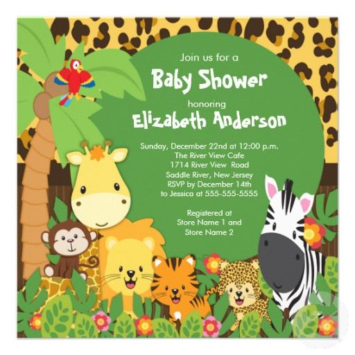 jungle baby shower invitations | baby shower invitations | pinterest,
