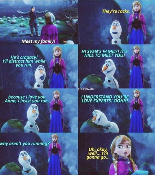17 Reasons Why Anna Should Be Your Favorite Disney Princess - I love how she's having this conversation with a snowman :D