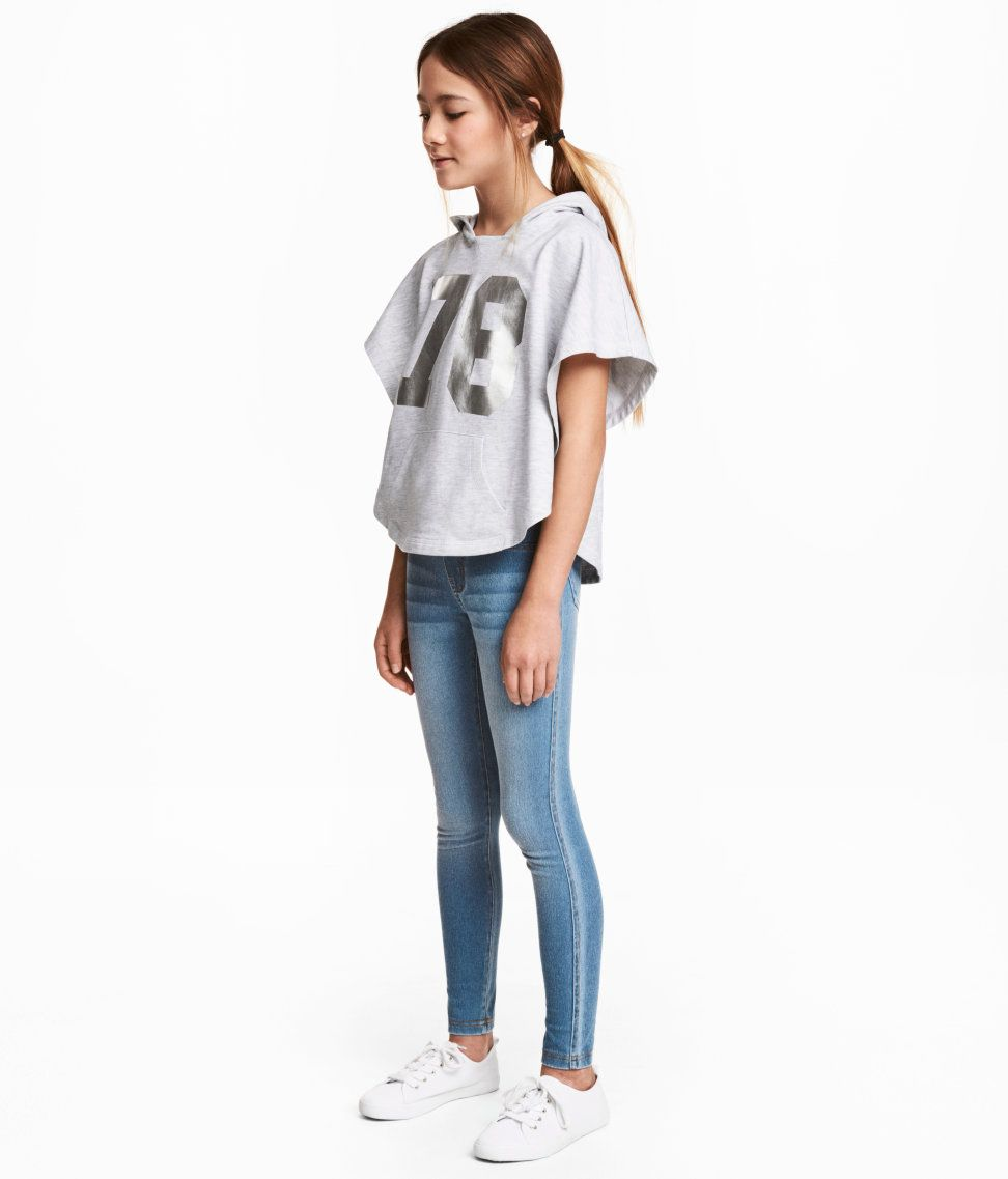 Check this out! Jersey treggings with an elasticized waistband and mock fly. Mock front pockets and back pockets. - Visit hm.com to see more.