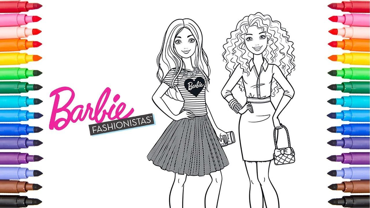 Coloring Barbie Fashionista Barbie Coloring Pages Barbie Coloring Pages Barbie Coloring Coloring Pages