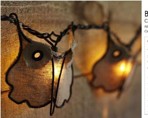 Captivating The Burlap Owl String Lights By Pottery Barn Will Light Up Any Patio  #holiday #