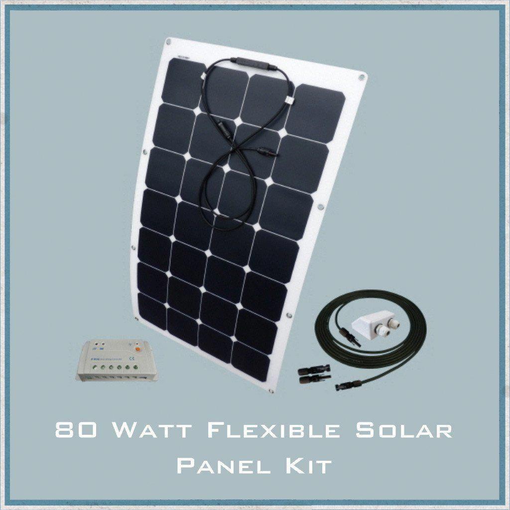 80w Flexible Solar Panel Campervan Caravan Motorhome Kit Flexible Solar Panels Solar Panels Solar Energy Panels