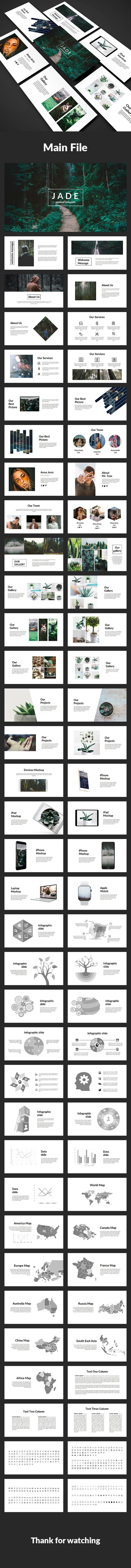 jade-creative powerpoint template | creative powerpoint, template, Presentation templates
