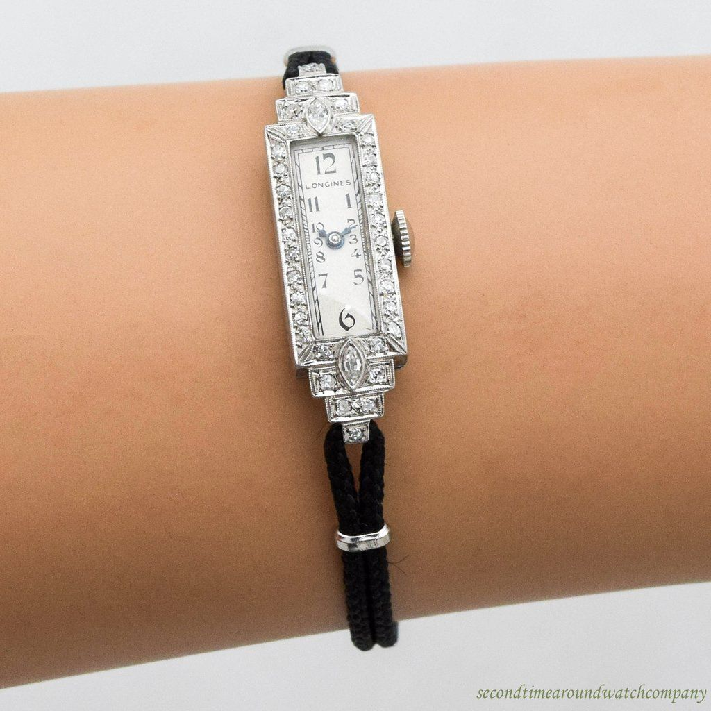 1933 Vintage Longines Ladies Diamond & Platinum Watch #vintagewatches