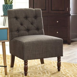 lola charcoal grey accent chair free shipping today overstock