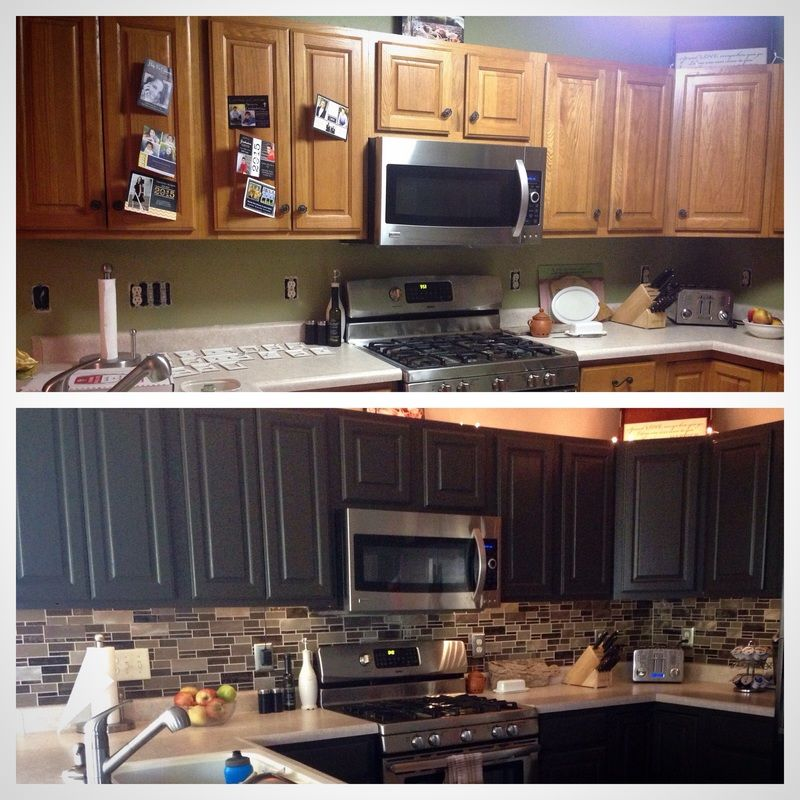 Painting Oak Kitchen Cabinets Espresso kitchen redux - transform honey-oak cabinets to sleek espresso