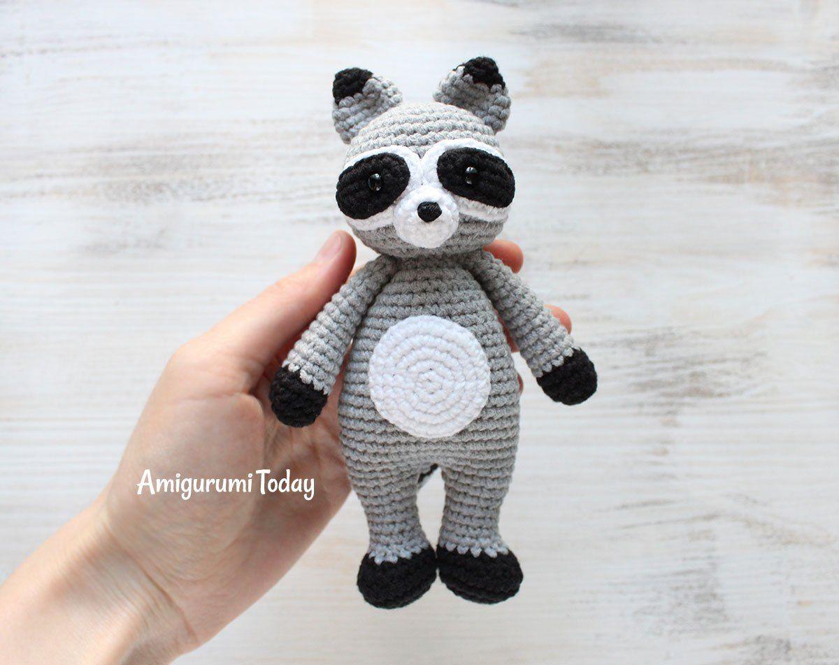 Patrón de amigurumi de Cuddle Me Raccoon | Amigurumis | Pinterest ...