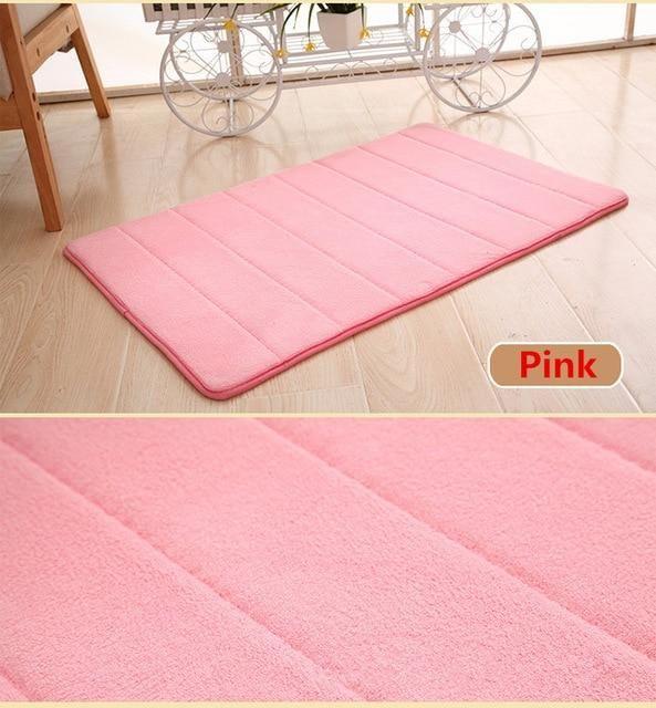 Photo of Home Bathroom Non-slip  Carpet – Light Pink