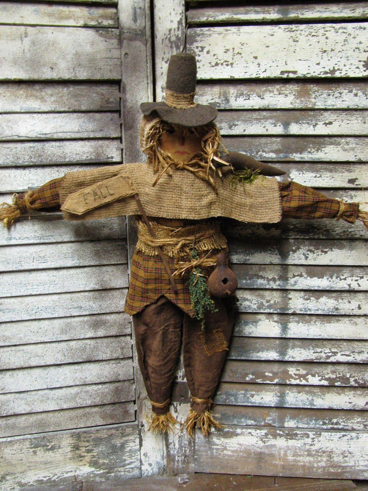 1897 House Primitives Scarecrow doll, Primitive dolls