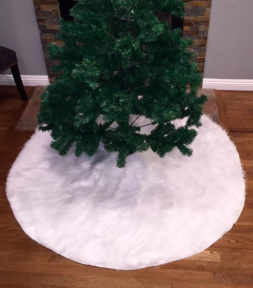 Faux Fur Christmas Tree Skirt White Faux Fur Tree Skirt Fur Tree